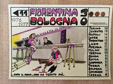 CARTOLINA CALCIO CAMPIONATO 1976/77 FIORENTINA -  BOLOGNA 3-0  - ALLEGORICA