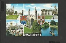 JSalmon Multi View Colour Postcard Cambridge-Kings College Chapel-The Backs 1978