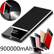 Portable Power Bank 900000mAh Ultra-thin External Battery Charger Fast Charging