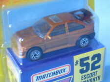 Matchbox Ford Escort RS Cosworth Gold Challenge 70mm Toy Model Car in BP