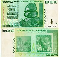 ZIMBABWE 1 Billion Banknote World Paper Money UNC Currency Pick p83 2008 Rocks