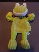 doudou grenouille marionnette verte côtelée BABYNAT