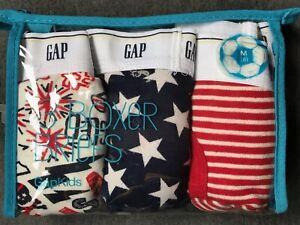 GAP GapKids NWT 3-piece July 4th Boxer Briefs size Boys M 8 years July Fourth