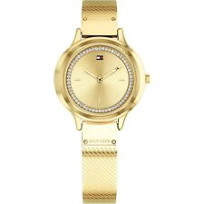 a750036d Tommy Hilfiger Women's Olivia Watch Gold Tone Crystals Bangle Bracelet  1781910