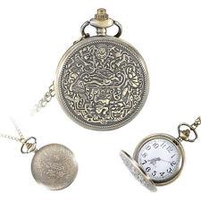 Classical Retro Quartz Necklace Pendant Chain Women Men Fob Pocket Watch Gifts
