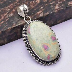 """Ruby Zoisite Ethnic Handmade Pendant Jewelry 2.32"""" AP 31032"""