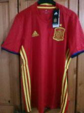 BIG SALE  Men's Spain Spanish  home football shirt jersey Size S  Adidas 2016