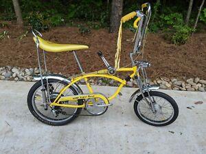 SCHWINN 1972 ORIGINAL LEMON PEELER KRATE STINGRAY BICYCLE * SURVIVOR-REAR DISC