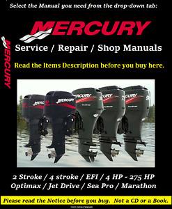 Mercury Outboard Repair Service & Shop Manual