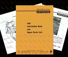 HOWARD 400 Rotavator Instruction & Rare Spare Parts Book - UK + Foldout Diagram
