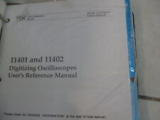 New Tektronix User Reference Manual For Digitizing Oscilloscopes 11401 11402