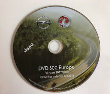 2018 OPEL VAUXHALL SAT NAV DISC NAVIGATION MAP DVD800 CD500
