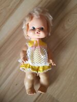 Vintage 1975 Mattel 13 Inch Squeeze Breathe Baby Girl Doll Original Clothes