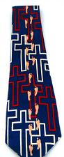 NEW!! Religious Cross Footsteps Novelty Necktie Neck Tie Sleeved Renaissance