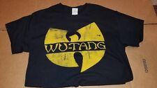 Wu-Tang Clan Distressed Logo T-Shirt Men's M Medium Black 100% Cotton