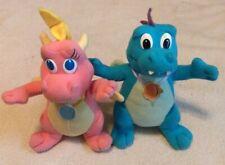 Dragon Tales Plush Stuffed Lot, pink baby dragon, blue dragon