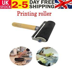 6cm Heavy Duty Hard Rubber Roller Printing Inks Lino Brayer Art Craft Tool