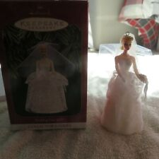 1997 Barbie Wedding Day New Hallmark Ornament Bride Lace -