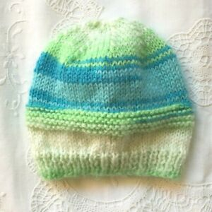 * New Born Plus * Baby Beanie * (Warm) * Multicoloured * Aust Hand Knitted