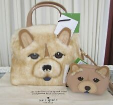 Kate Spade Chow Small Lottie Year of The Dog Handbag and Dumpling Coin Purse