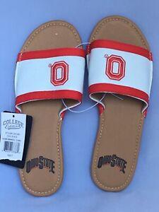 NWT - Ohio State Buckeyes Slides-Sandals-Size 7 Women - EB209