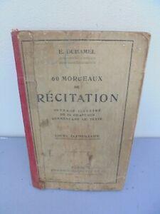 Livre Scolaire Récitation - 1912