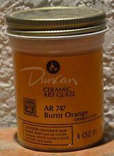 Duncan Art Glaze Ar 747 Burnt Orange - 4 oz. Jar