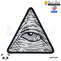 Illuminati Eye Embroidered Iron On Sew On PatchBadge For Clothes Bags Shoes etc