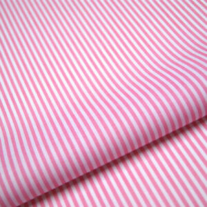 Baby Pink Stripe Polycotton Fabric Striped Lines Material Craft 3mm Per METRE