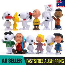Peanuts Snoopy Charlie Lucy Franklin 12 PCS Action Figure Doll Toys Kids Gifts