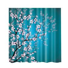 Shower Curtain 180x180cm Plum Blossom Bathroom Waterproof with 12 Hooks