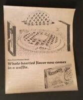 VINTAGE ADVERTISING 1977 Campaign Pitch Poster ROMAN MEAL WAFFLES #3