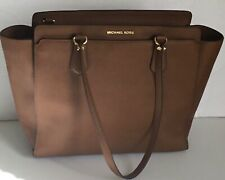 Michael Kors Handbag Dee Dee Large Saffiano Convertible Tote Shoulder Brown bag
