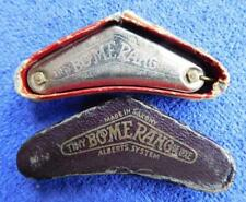 Tiny Antique Harmonica Mouth Organ Boomerang Shape Alberts System In box