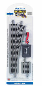 NEW Bachmann 44558 EZ-Track #4 Turnout Right HO Scale FREE US SHIP
