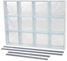 Solid Glass Block Window Wave Pattern Replacement-Window 4 Way Installation