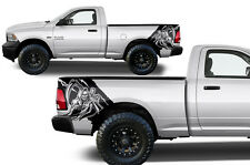 Vinyl Decal REAPER Wrap Kit for Dodge Ram Truck 09-14 1500/2500/3500 Matte Black