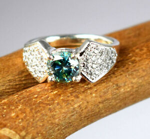 3.78 Ct Green Diamond Solitaire Men's Anniversary Ring