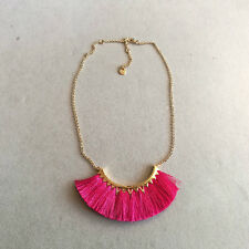 Stella And Dot 18K Real Gold Plated Eden Tassel Statement Necklace Jewelry