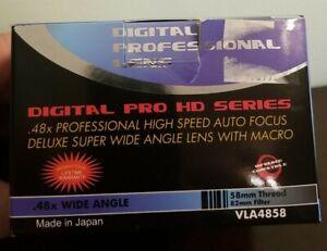 Digital Advance 58mm T-Mount Conversion Lens .48x Wide Angle w/ Macro Lens Box