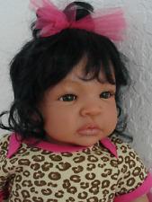 """Reborn African American19"""" Newborn Baby Girl Doll Shyann"""