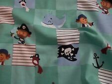 Jersey Baumwolljersey Wale Flagge Piraten Skull Anker Kinderstoffe Meterware
