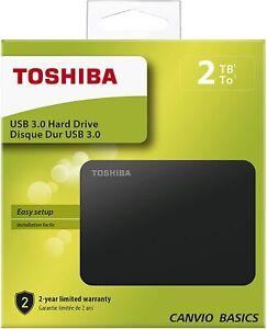 Toshiba HDTB420EK3AA Canvio Basics Tragbare Externe Festplatte USB 3.0, 2TB schw