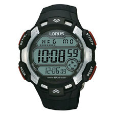 NB LNP R2347CX9 Lorus Mens Gents World Time Digital Resin Strap Watch