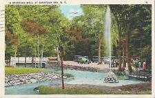 Postcard New York Saratoga Spa A Spouting Well 1937