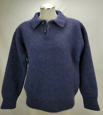 Vintage Patagonia Womens Wool Sweater Size Medium Purple Knit Button Pullover