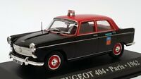 Altaya 1/43 Scale ALP404 - 1962 Peugeot 404 Taxi Paris - Black/Red