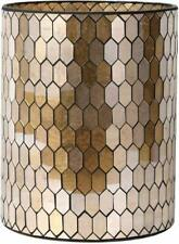 Bathroom Accessory Glass Mosaic Cleaning Decorative Wastebasket/Trash Can Golden