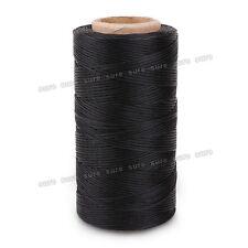 Hilo de Bobina Encerado para coser cuero PU Color Negro 260m