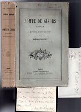 CAMILLE ROUSSET 2 LAS + LE COMTE DE GISORS 1732-58 HISTOIRE GUERRE DE SEPT ANS